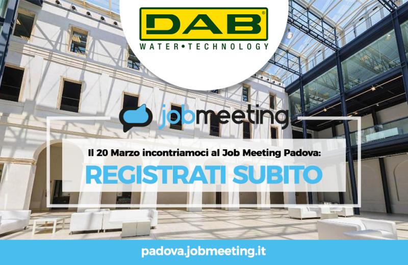 Dab meets students at Padua JOB Meeting