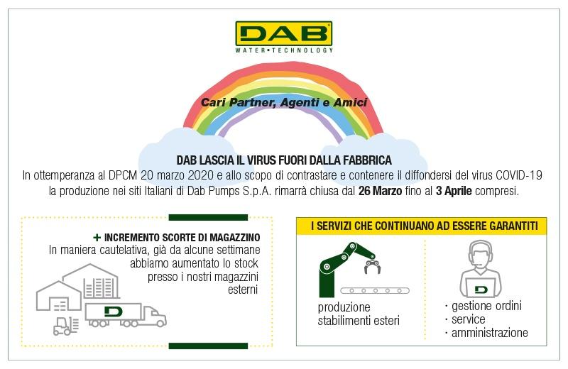 DAB Pumps sospende la produzione