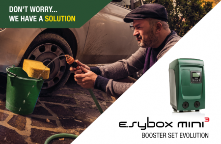 e.sybox mini3 is the new electronic pressurization system, small, integrated and easy to install.