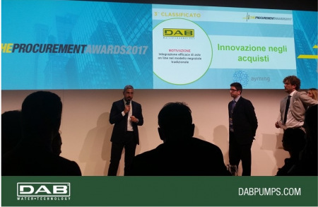 Dab Pumps sul podio del Procurement Award 2017.