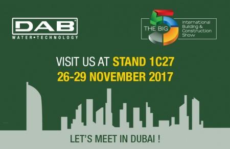 DAB torna a Dubai per l'edizione 2017 del BIG5 Expo