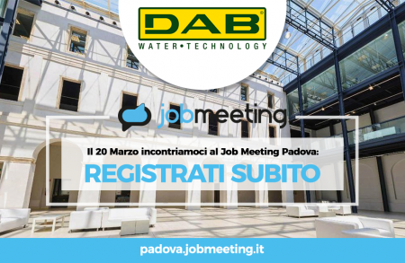 Dab meets students at Padua JOB Meeting
